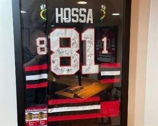 Blackhawks signed jersey Hossa