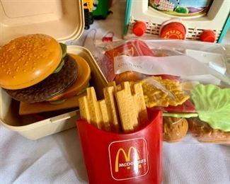 Fisher Price McDonald's food including a Big Mac!