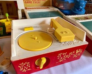 Fisher Price record player with records