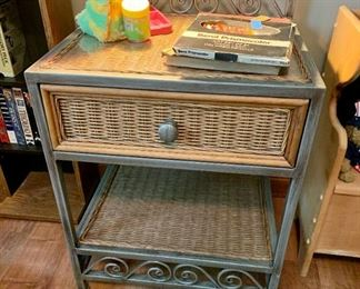 Wicker night stand/table