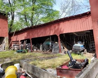 barnyard will be cleaned out and organized for sale of salvageable goods
