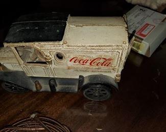 coca cola iron truck