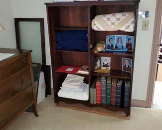 walnut book case