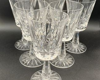 """6 Waterford Lismore Goblets 7"""""""