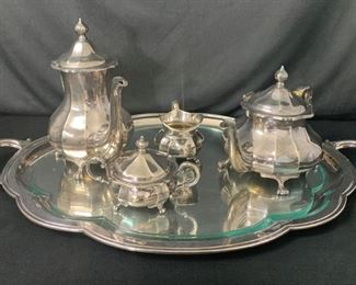 5 Pc. Sterling Silver Tea Set E. Ferner 65.6 OZT