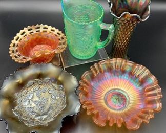 Estate Lot of Carnival, Northwood & Fenton Glass