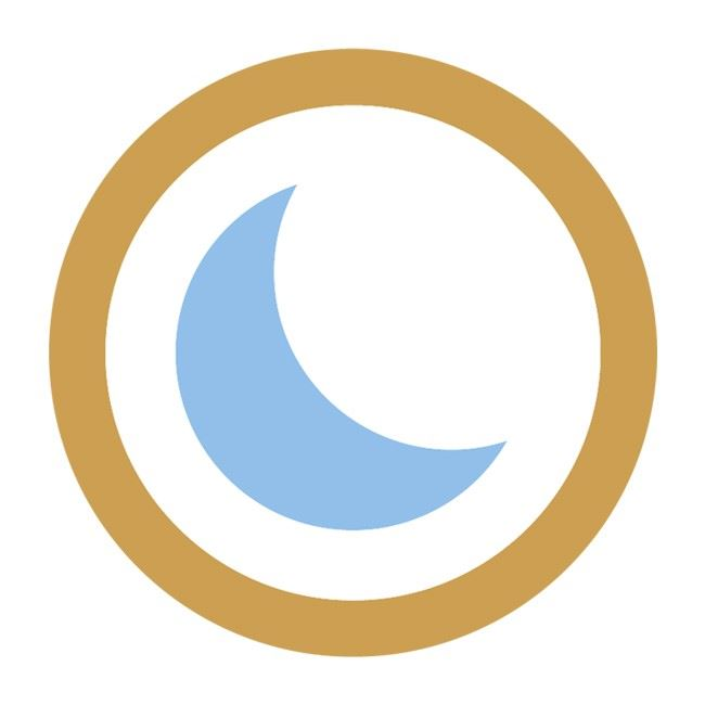 best blue moon logo icon