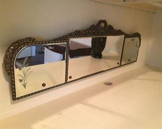 Vintage three-piece mirror.