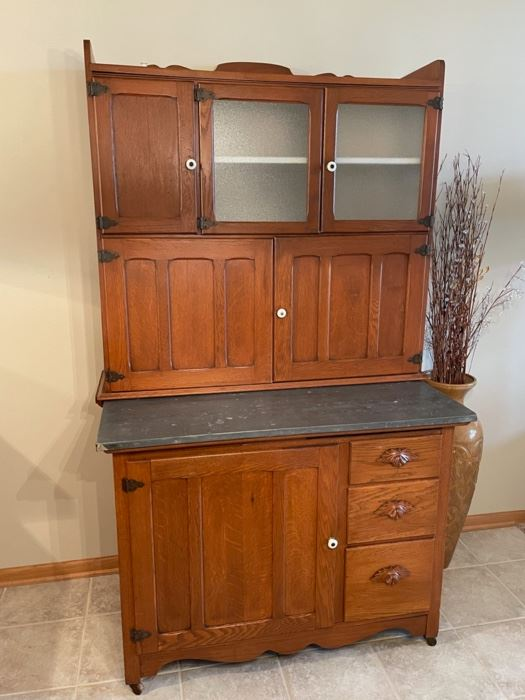CLEARANCE !  $500.00 NOW, WAS $1,800.00...............Antique Hoosier Cabinet.... prettiest I've ever seen!!! (G156)