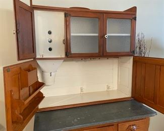 Open View: Antique Hoosier Cabinet (G156)