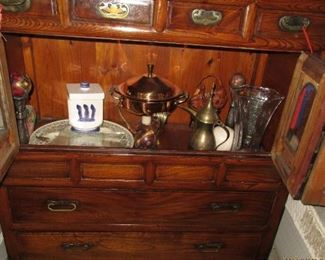 cabinet with open door