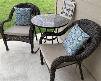 $315- - OBO- Three piece Hampton Bay patio set