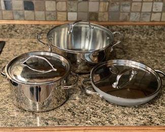 Pots with lids