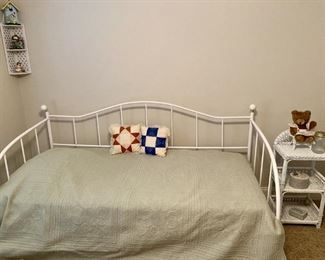 Daybed and Wicker End Table