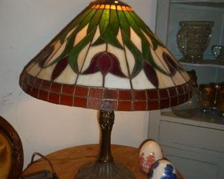 Vintage Art Glass lamp