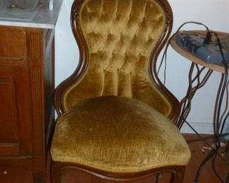 One of a pair of old chairs (need cleaning)