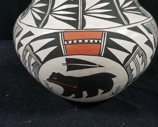 Acoma Indian Pottery Signed
