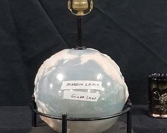 Rare  Aladdin Alacite World Globe Lamp