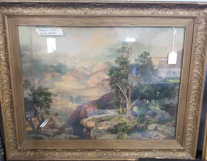 1912 Thomas Moran ,'Grand Canyon' made for Santa Fe Rail Road