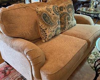 Super comfy love seat.