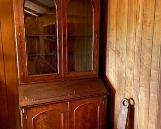 Incredible hutch with drop down front.