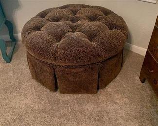 $250- Large Custom  upholstered ottoman