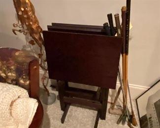 Mahogany TV trays