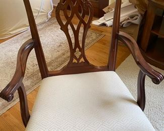 2 Welligton Hall mahogany Chippendale captains chairs