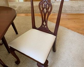 Wellington hall mahogany Chippendale dining chairs 6