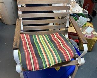 patio stripe chair