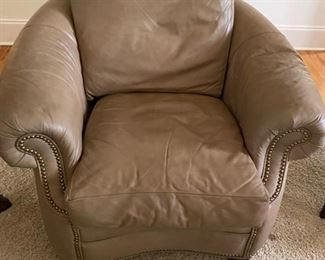 1 of 4 leather chairs