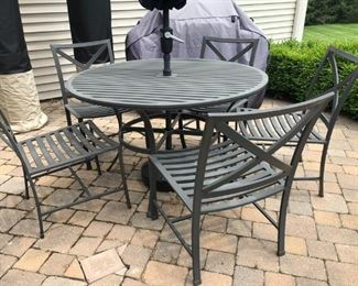 PATIO SET FROM RESTORATION HARDWARE  UMBRELLA NOT FOR SALE