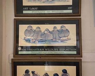 1986 1987 Framed Duck Prints