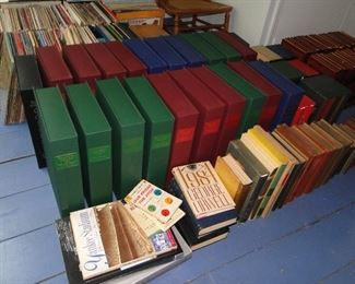 Many old antique books, Folio Society and more
