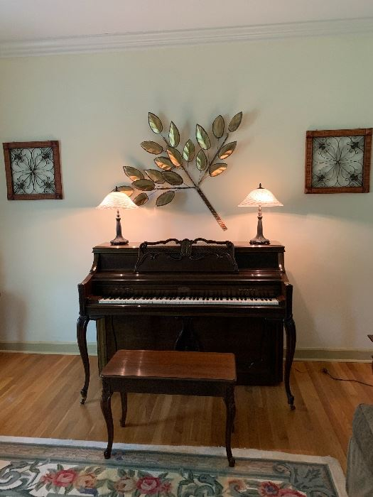 """Very Nice Wurlitzer Piano has a wonderful """"feel"""" of the keys. Sounds very nice considering it has not been tuned in some time."""