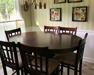 High Top Kitchen Table and 6 Chairs