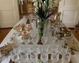 Lots of Silverplate and Crystal