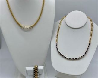 Amazing collection of fine jewelry including Men's & Ladies Rolex watches, diamond, sapphire & garnets!