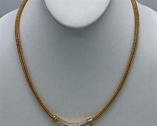 Diamond gold & platinum necklace