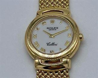 Ladies gold Rolex watch