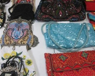 A Stunning Array of Beaded Purses for Daytime or Evening Wear.