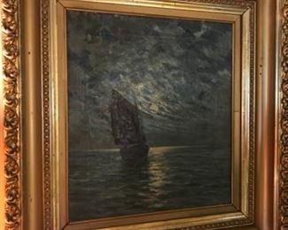 Oil painting from William Adam, California artist