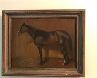 Vintage oil painting, possibly from a traveling artist in 1920-1930's