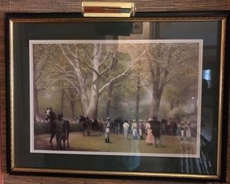 Keeneland , Lexington, Kentucky. Framed, signed, matted, numbered and lighted