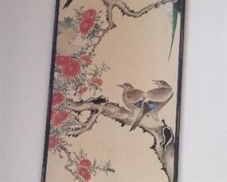 Large vintage , Asian art, beautiful colors