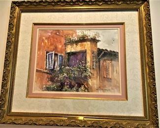 "Jack DeLoney print ""Tuscan Rose"" (1998) 117/500"