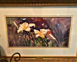 "Jack DeLoney print""Yellow Lillies"" (1999) 166/500"