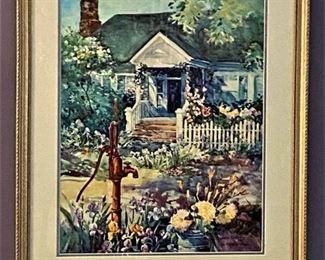 """Jack DeLoney print """"Miracle at the Pump"""" (1995) 158/1500"""