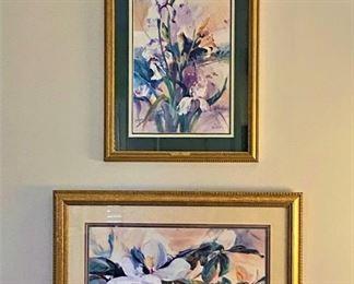 "Jack DeLoney prints ""Iris"" (1991) 56/950 and ""Magnolia"" (1991)  100/950"