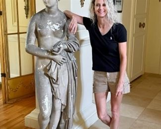 6' plaster nude goddess...clothed goddess available too :)